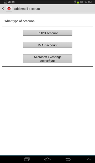 Add Email Account window - What type of account?