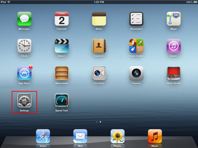 Home Screen window for Apple devices