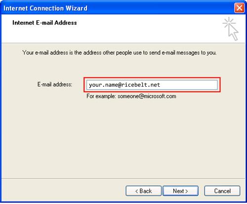 Internet Connection Wizard window